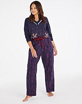 Joe Browns Printed Deer PJ Set