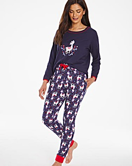 Joe Browns Christmas Llama PJ Set