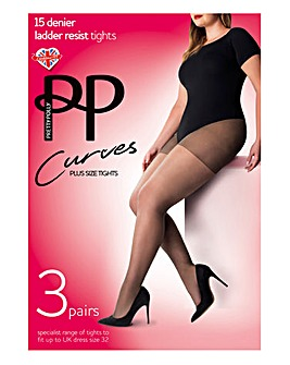 Pretty Polly Curves 3Pack Ladder Resist Tights