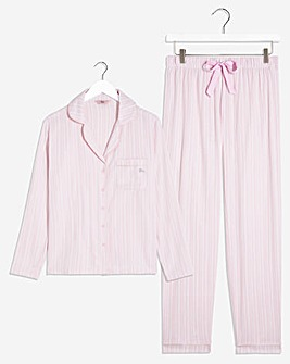 Boux Avenue Pink Stripe PJ In A Bag