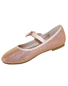 Sparkle Club Gold Ballerinas