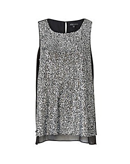 Mela London Curve Sequin Top