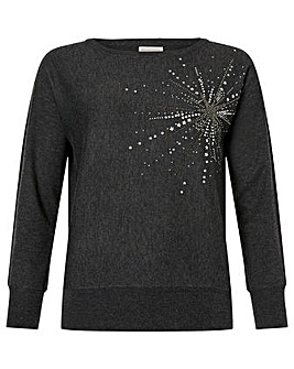 Monsoon Starburst Knitted Jumper