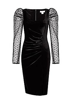 Monsoon Jane Velvet Organza Shift Dress