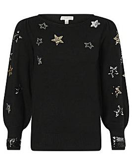 Monsoon Blouson Sleeve Sequin Jumper