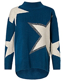 Monsoon Outline Star Jumper