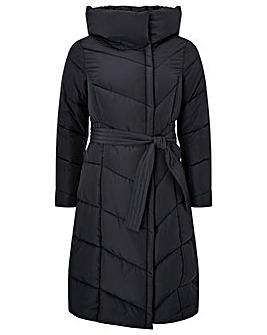 Monsoon Bettina Belted Padded Coat