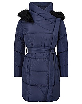 Monsoon Patsy Long Padded Coat