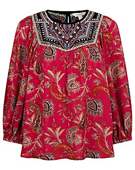 Monsoon Paisley Print Sustainable Top