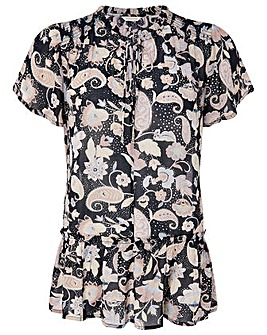 Monsoon Paisley Print Longline Top