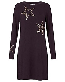 Monsoon Sequin Star Dress