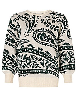 Monsoon Paisley Jacquard Jumper
