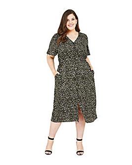 Yumi Curves Animal Midi Dress
