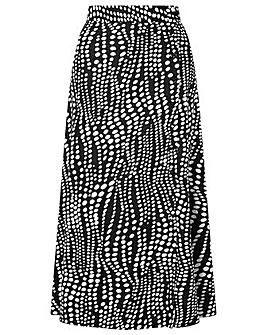 Monsoon Black Spot Midi Skirt
