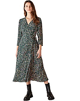 Monsoon Floral Animal Midi Dress
