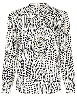 Monsoon Ivory Spot Print Blouse