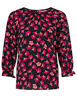 Monsoon Abstract Floral Print Blouse