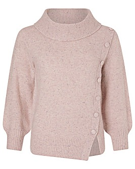 Monsoon High Neck Button Side Jumper