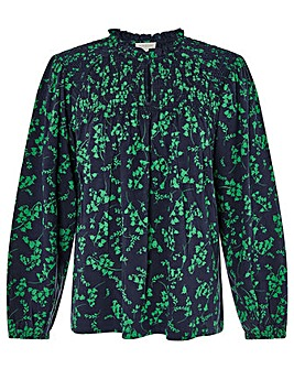 Monsoon Ava Print Shired Long Sleeve Top