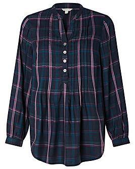 Monsoon Check Longline Shirt