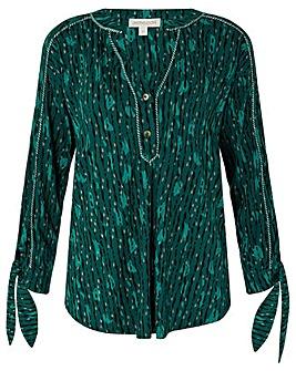 Monsoon Lisa Print Longline Shirt