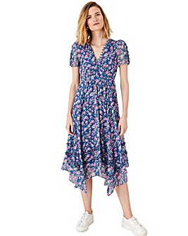 Monsoon Rebecca Viscose Print Dress