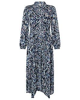 Monsoon BLUE PRINTED SHIRT DRESS