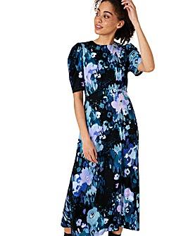 Monsoon Mason Floral Print Midi Dress