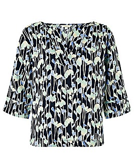 Monsoon Lulu Linen Print Shirt