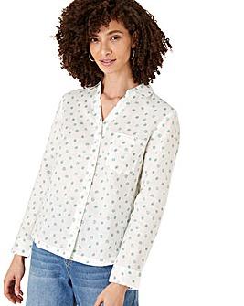 Monsoon Patsy Linen Spot Shirt