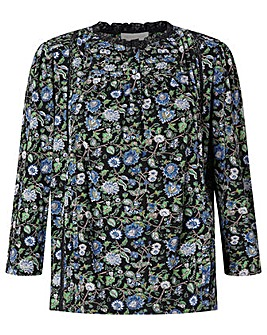 Monsoon Floral Print Casual Top