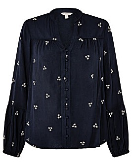 Monsoon NAVY EMBROIDERED TOP