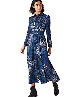 Monsoon Andrea Animal Shirt Dress