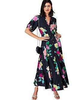 Monsoon Una Floral Printed Shirt Dress