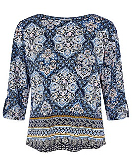 Monsoon Rowan Heritage Print Top