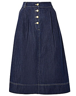 Monsoon Denim Midi Skirt