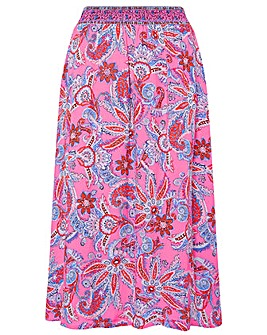 Monsoon Pink Printed Skirt