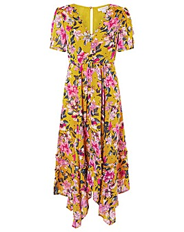 Monsoon Rachel Floral Hanky Hem Dress
