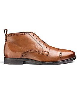 Leather Brogue Boots Standard Fit