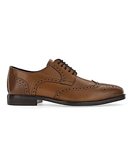 Classic Leather Brogue Wide Fit