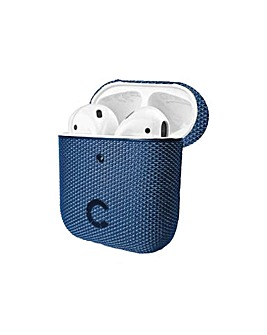 TekView Air Pods 1 & 2 case Navy/Blue