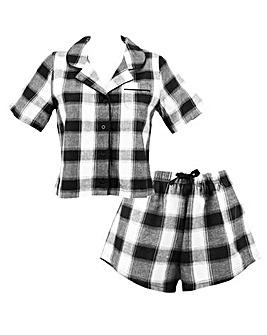 Pour Moi Cosy Check Short Pyjama Set