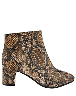 Monsoon Selena Snake Ankle Boot