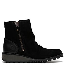 Fly London Monty Side Zip Wedge Boots