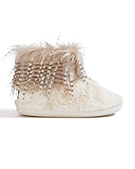Pretty You London Brandi Bootie Slippers