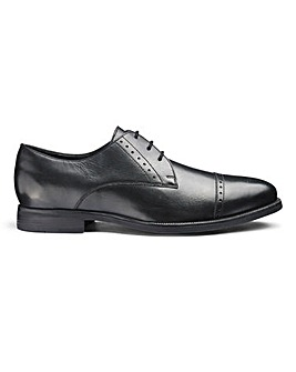 Leather Toe Cap Derby Shoes Extra Wide Fit
