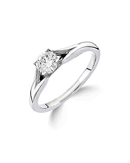 9K 0.25Ct Diamond Solitaire Ring
