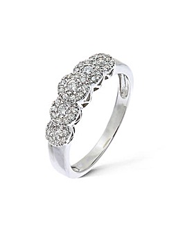 9K 0.35Ct Diamond Ring