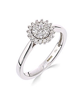 9K 0.30Ct Diamond Ring