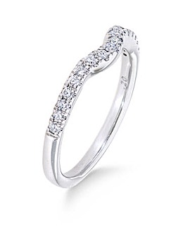 9K 0.20 Ct Diamond Ring